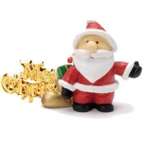 Cute Santa with Merry Chirstmas Cake Topper